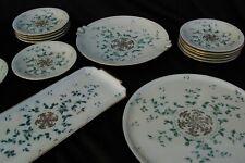 Service à Gâteau Tarte Cake (3 plats + 11 assiettes) Porcelaine Royale Limoges