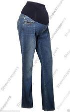 Stonewashed Straight Leg Maternity Jeans