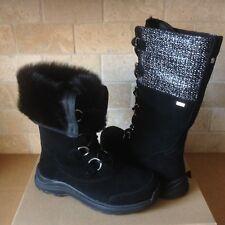 76b7e38ad338 UGG Atlason Frill Black Waterproof Leather Toscana Snow Boots Size US 12  Womens