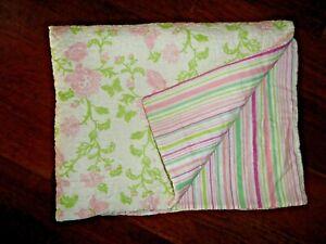 LAURA ASHLEY GREEN PINK GREEN BUTTERFLIES FLORAL (1) STANDARD PILLOW SHAM 20X26