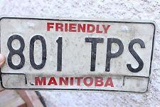 Friendly Manitoba License Plate 801 TPS CAR TRUCK