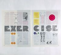 1965 Original Vintage Print Ad Exercise Expert Stretch Ginger Rogers Work Out