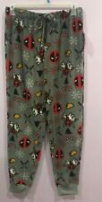 Deadpool Christmas Pants Pajama Lounge Pants Medium Large  NWT