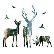 Deer Forest Wall Sticker Mural Decal DIY Removable PVC Art Home Decor Eyeful