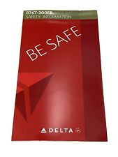 Delta Air Lines B767-300 (763) Safety Card 2014