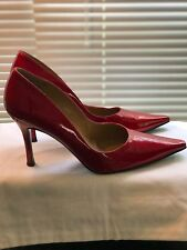 "Stuart Weitzman Red Patent Leather Pumps 4.5"" Heel SIZE  9M Candy Apple Fever"
