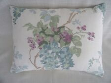 Laura Ashley Wisteria Duck Egg floral bolster Cushion Covers cotton 12 x 16'' BN