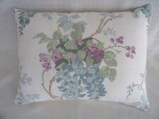 Laura Ashley Wisteria Duck Egg floral bolster Cushion Covers cotton 12 x 16'' BN