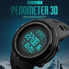 Elegante Podómetro Step calorías Mostrador LED Militar Reloj Deportivo YE HF
