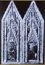 Madonna and Crucifixion, XIV Century French Diptych, Magic Lantern Glass Slide