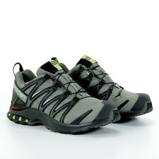 Salomon Mens XA Pro 3D Trail Running Low Top Shoes Black Castor Grey Size 10 New