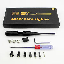 Red Laser Bore sighter .177 - 0.50 Caliber Rifle, With on/off switch, 6 adapters