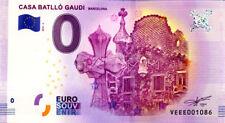 ESPAGNE Barcelone, Casa Batlló 3, 2018, Billet 0 € Souvenir