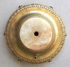 Antique Brass Footed Floor Lamp Base  w/Marble Base Spacer Parts Repair Vtg