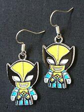 Spiderman dello smalto Charm handmade earrings argento monachelle ganci