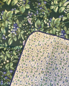Laura Ashley Bramble Berry Twin Duvet Appears Unused Green Floral Reversible USA