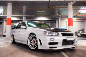 Stagea C34 Conversion Front Fenders for Nissan R34 GTR