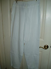New White Pants Sz M Med Taylor & Henry Casuals - Elastic Waist NWT!  FREE S/H!