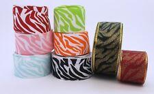 38mm Grosgrain Zebra Animal Ribbons Free Postage