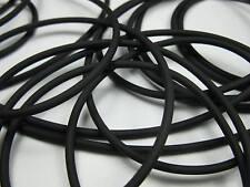 2 m Kautschukband rund 2mm schwarz Perlen 11032