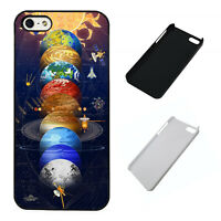 Solar System Planets plastic phone case Fits iPhone