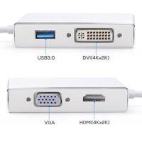 USB-C to HDMI / DVI / VGA External Graphics Video Card Adapter USB 3.0 4K x 2K