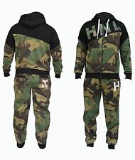NEW MEN'S ARMY CAMOUFLAGE TRACKSUIT JOGGING SWEAT SUITS HOODIES JUMPER BOTTOMS