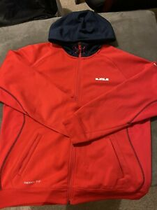 Nike Red Lebron Therma Fit Jacket Size XL