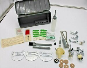 NECCHI Sewing Machine Assorted PARTS PIECES Storage Box Italy