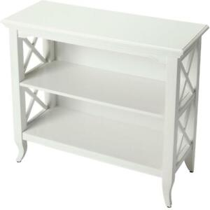 BOOKCASE X-SHAPED SIDE SUPPORTS X GLOSSY WHITE COTTAGE RUBBERWOOD BIRCH 2