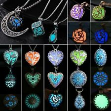 Luminous Steampunk Magic Fairy Locket Heart Glow In The Dark Pendant Necklace