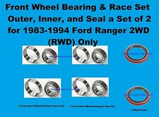 1983-1994  Ford Ranger 2WD Front Inner, Outer Wheel Bearing and Seal Set of 2