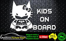 Hello Kitty Dark Meow Hello BatKitty Kids on board Car Window Sticker Decal