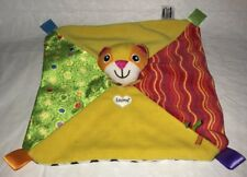 Lamaze Tomy Cat Blankie Ribbon Tags Patches Lovey Security Baby Blanket Rattles