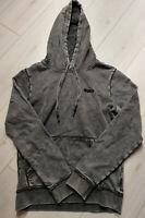 Tigha Herren  Pullover Hoodie Vintage Grau Größe M
