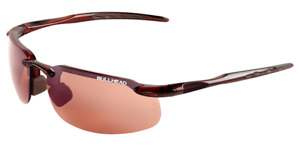 Bullhead Swordfish Safety Sunglasses Brown Frame Indoor/Outdoor Copper Lens Ball