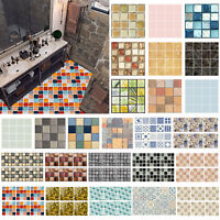 6/10/24pcs Waterproof Tiles Mosaic Wall Stickers Kitchen Bathroom Adhesive Decor
