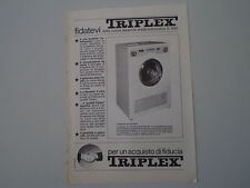 advertising Pubblicità 1963 LAVATRICE TRIPLEX SUPERAUTOMATICA S 500