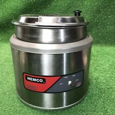 Nemco 6103a Commercial 11 Qt Round Cookerwarmer With Inset Pan And Lid Countertop