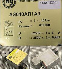 HYDRAULIKRING Druckschalter AS040AR1A3 - pc=3-40bar - pemax=315bar - U=250V