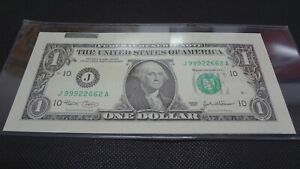 2003 US$1 Federal Reserve Note With Major Printing And Cutting Errors Unc RARE!!