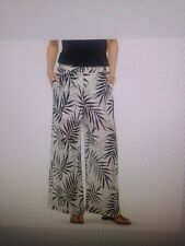 NEW w/tags MOSSIMO palm print PANTS beach lounge black & white XXL