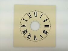 Reproduced Painted Metal Dial for Antique Cottage Clocks in Cream Color