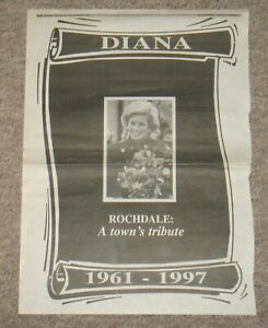 Rare Rochdale Observer Princess Diana Newspaper Cuttings – 6 Sept 1997 - 3 pages