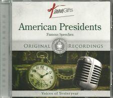 AMERICAN PRESIDENTS FAMOUS SPEECHES CD - ORIGINAL RECORDINGS