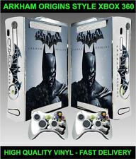 XBOX 360 CONSOLE STICKER BATMAN ARKHAM ORIGINS SKIN GRAPHIC & 2 CONTROLLER SKINS