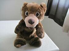 "13"" Disney Brother Bear TUMBLE N LAUGH KODA Talking Plush Stuffed Animal"
