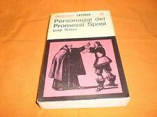 Luigi Russo, Personaggi dei Promessi Sposi, Laterza