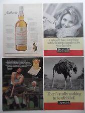 Lot of 20 Dewar's Scotch Whiskey Magazine Print Ads ~ Hammer Throw Scotland ++