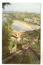 Funicular Railway San Sebastian Postcard c1920's